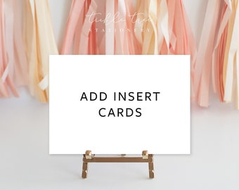 Complete Your Wedding Suite - Add Insert Cards