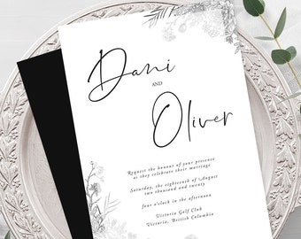 Wedding Invitations - Modern & Vintage Elegance (Style 13950)