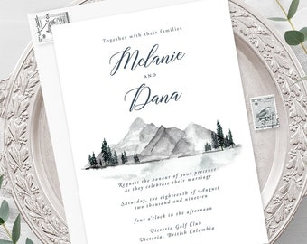 Wedding Invitations - Water's Edge (Style 13917)