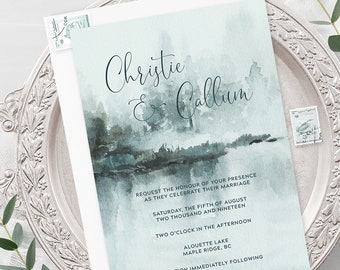 Wedding Invitations - Alouette Lake (Style 13908)