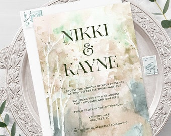 Wedding Invitations - Meadow Mountain (Style 13907)