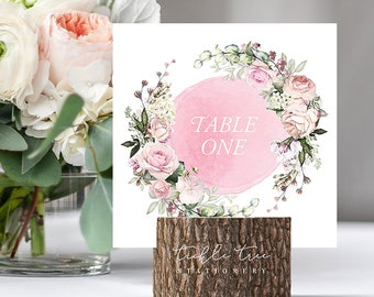 Table Numbers/Table Decor - Roses in Bloom (Style 13807)