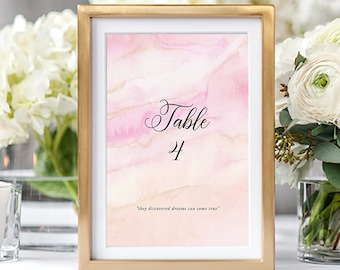 Table Numbers/Table Decor - Once Upon A Time (Style 13671)