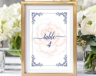 Table Numbers/Table Decor - Marie Antoinette, Let Them Eat Cake (Style 13770)