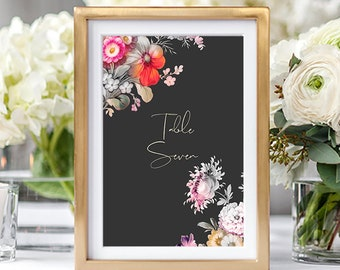 Table Numbers/Table Decor - Japanese Garden (Style 13861)