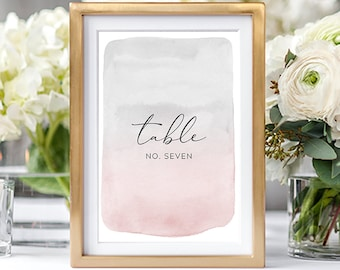 Table Numbers/Table Decor - Sandy Shores (Style 13900)