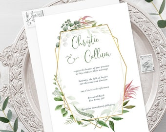Wedding  Invitations - Botanical Garden (Style 13910)