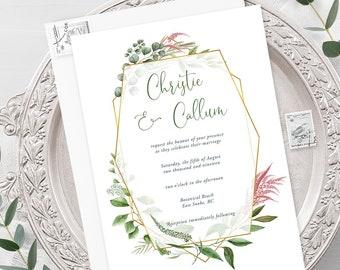 Wedding Invitations - Botanical Garden (Style 13910)