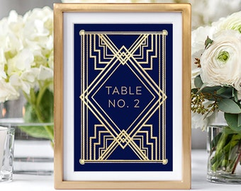 Table Numbers/Table Decor - The Great Gatsby (Style 13875)