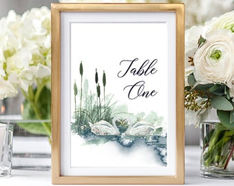 Table Numbers/Table Decor - Swan Lake 2 (Style 13864)