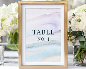 Table Numbers/Table Decor - Desert Sands (Style 13728)