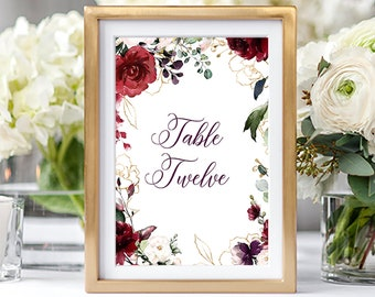Table Numbers/Table Decor - A Beautiful December (Style 13858)