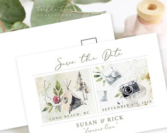 Save the Date Postcards - Destination The Beach (Style 13912)