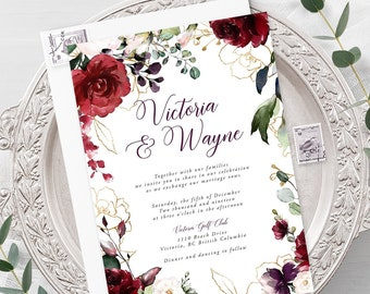 Wedding  Invitations - A Beautiful December (Style 13858)