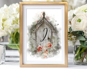 Table Numbers/Table Decor - Dreamy Garden (Style 13830)