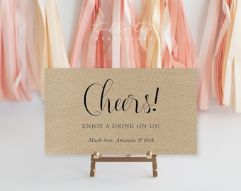 Drink Tickets - Cheers, Have a Drink on Us! (Style 03)