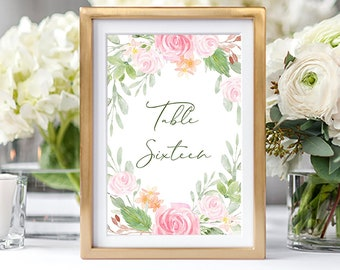 Table Numbers/Table Decor - Summer Bloom (Style 13896)