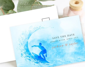 Save the Date Postcards - Big Waves (Style 13644)