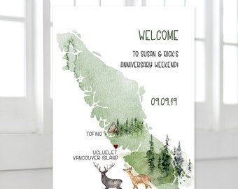 Welcome Sign - Vancouver Island (Style 13865)