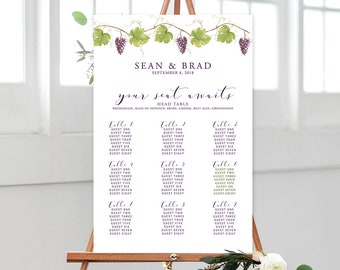 Seating Chart - Love at the Winery (Style 13788)