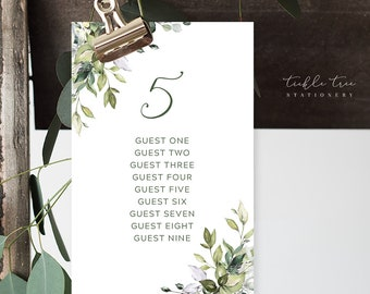 Seating Chart Cards/Day of Stationery - Botanical Bay (Style 13915)