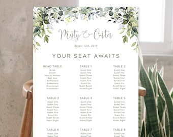 Seating Chart - Botanical Garden (2) (Style 13915)