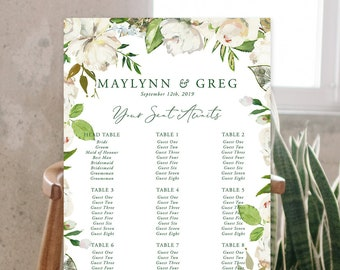 Seating Chart/Design & Printing or Printable File - Antique White (Style 13886)