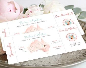 Wedding Invitations/Boarding Tickets - Wanderlust - Destination Wedding (Style 13885)