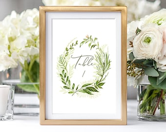 Instant Download/Table Numbers + Bonus Card - Whispering Garden (Style 13799)