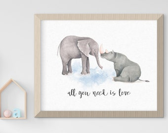 Child's Nursery Art - Love & Friendship (Style 14020)