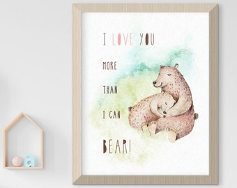 Child's Nursery Art - Love & Friendship: More Than I Can Bear (Style 14014)