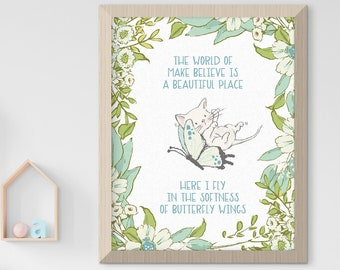 Child's Nursery Art - Love & Friendship: Butterfly Flight (Style 14100)