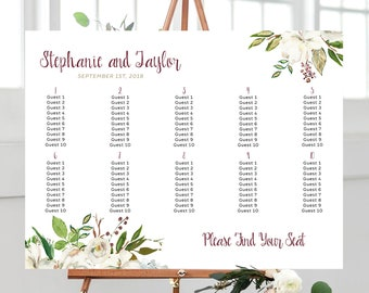 Seating Chart - Antique White (Style 0038)
