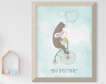 Child's Nursery Art - Love & Friendship: Big Brother (Style 14004)