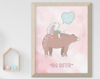 Child's Nursery Art - Love & Friendship: Big Sister (Style 14005)