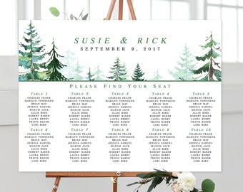 Seating Chart - Rustic Mountain (Style 0028)