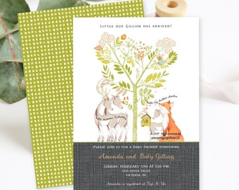 Baby Shower Invitations/Packages - Woodlands Theme (Style 13725)