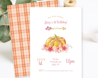 Birthday Party Invitations - Pumpkin Patch Party (Style 13755)