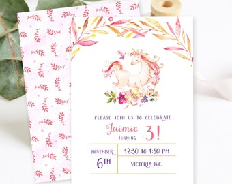 Birthday Party Invitations/Packages - Unicorn Dreams 2 (Style 13753)