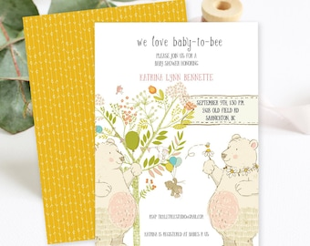 Baby Shower Invitations/Packages - We Love Baby to Bee (Style 13707)