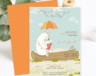 Baby Shower Invitations - Book Baby Shower/Bear Tales (Style 13924)
