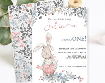Birthday Party Invitations/Packages - Some Bunny is Turning One (Style 13689)