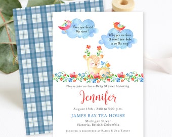 Baby Shower Invitations - Have You Heard the Word? (Style 13742)