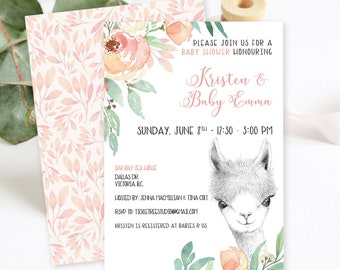 Baby Shower Invitations/Packages - Llama Love (Style 13857)