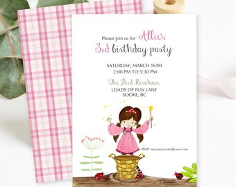 Birthday Party Invitations/Packages - Wishing Fairy (Style 13391)