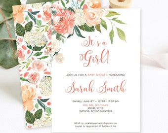Baby Shower Invitations - What a Peach (Style 13923)