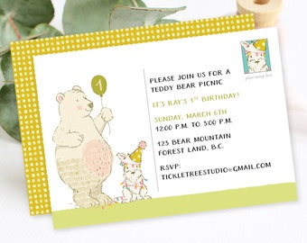 Birthday Party Invitation - Bear Birthday Bash (Style 13695)