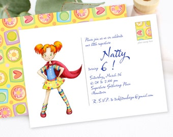 Birthday Party Invitation - Our Superhero (Style 13441)