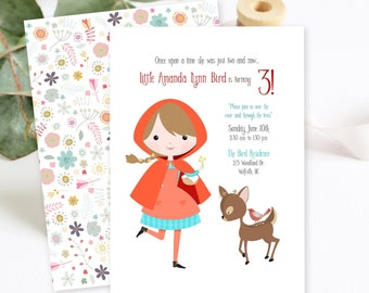 Birthday Party Invitations/Packages - Little Red Riding Hood/Woodlands (Style 13349)