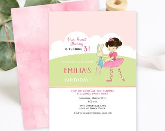 Birthday Party Invitations/Packages - Calling all You Bunnies, Girl's Birthday (Style 13390)